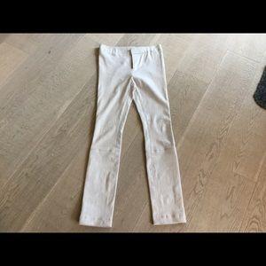 J Brand Cream/Taupe Leather Leggings Pants